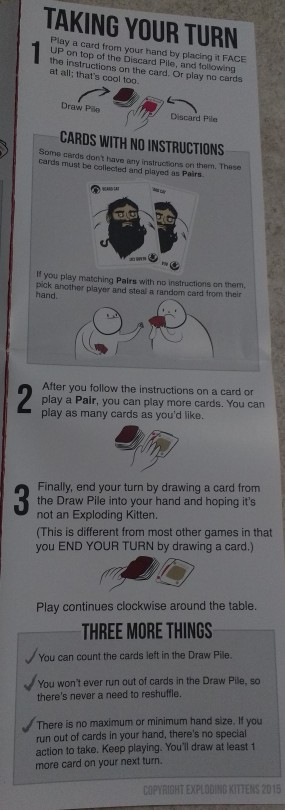 The rules of Exploding Kittens